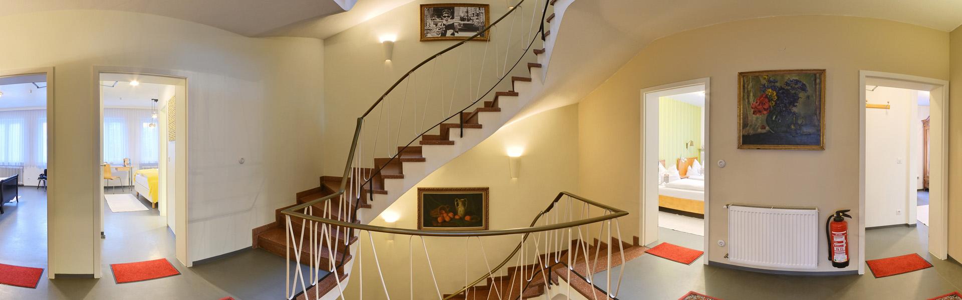 Treppenaufgang Hotel Vosteen